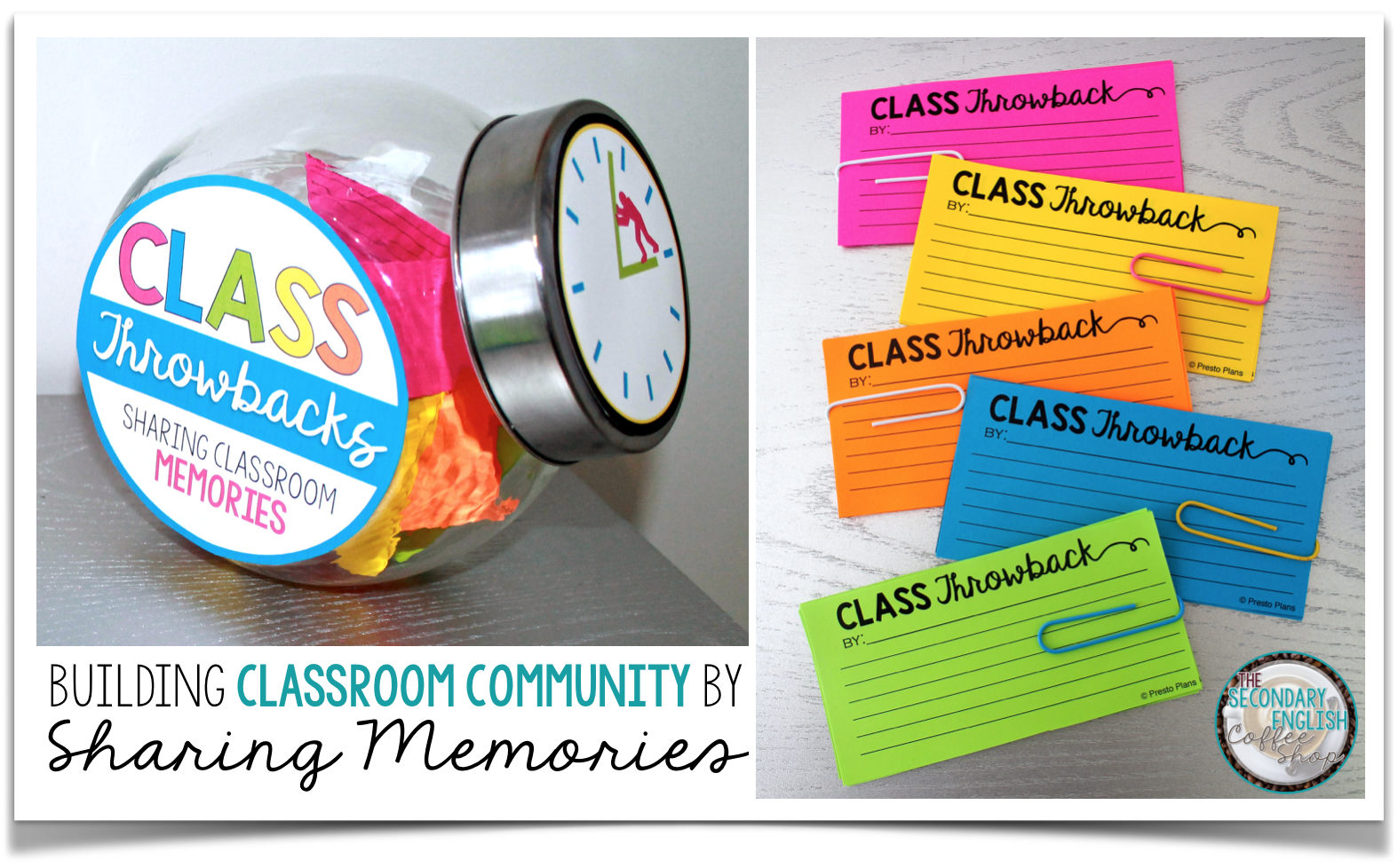 "Build classroom community with this FREE resource where students write down funny, interesting, and memorable moments that happen within the classroom.  Later on in the year, take the cards out for a ""Throwback Thursday"" activity to share class memories."