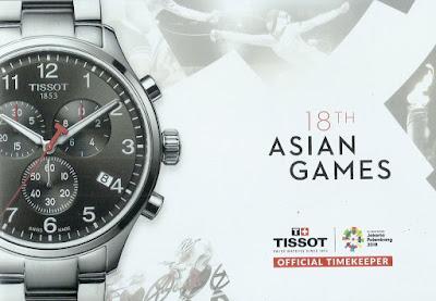 Tissot sebagai official timekeeper Asian Games 2018