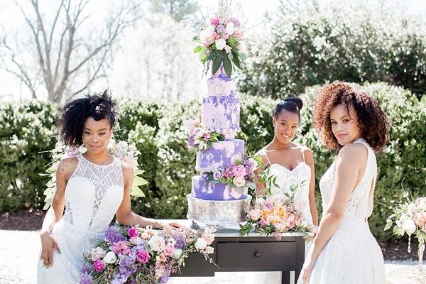 Modern garden glam beauty ideas for black brides