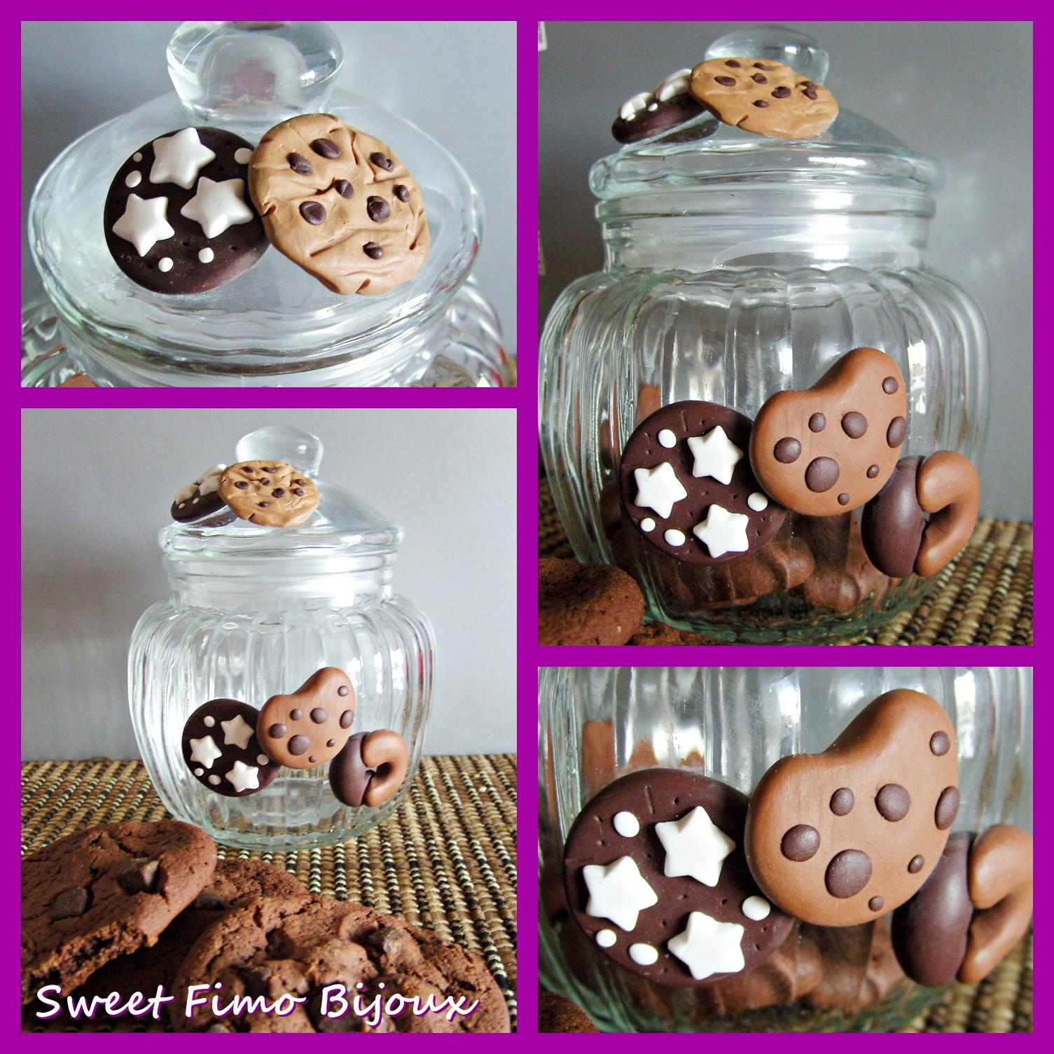 Sweet fimo bijoux barattolo porta biscotti - Barattoli vetro decorati ...