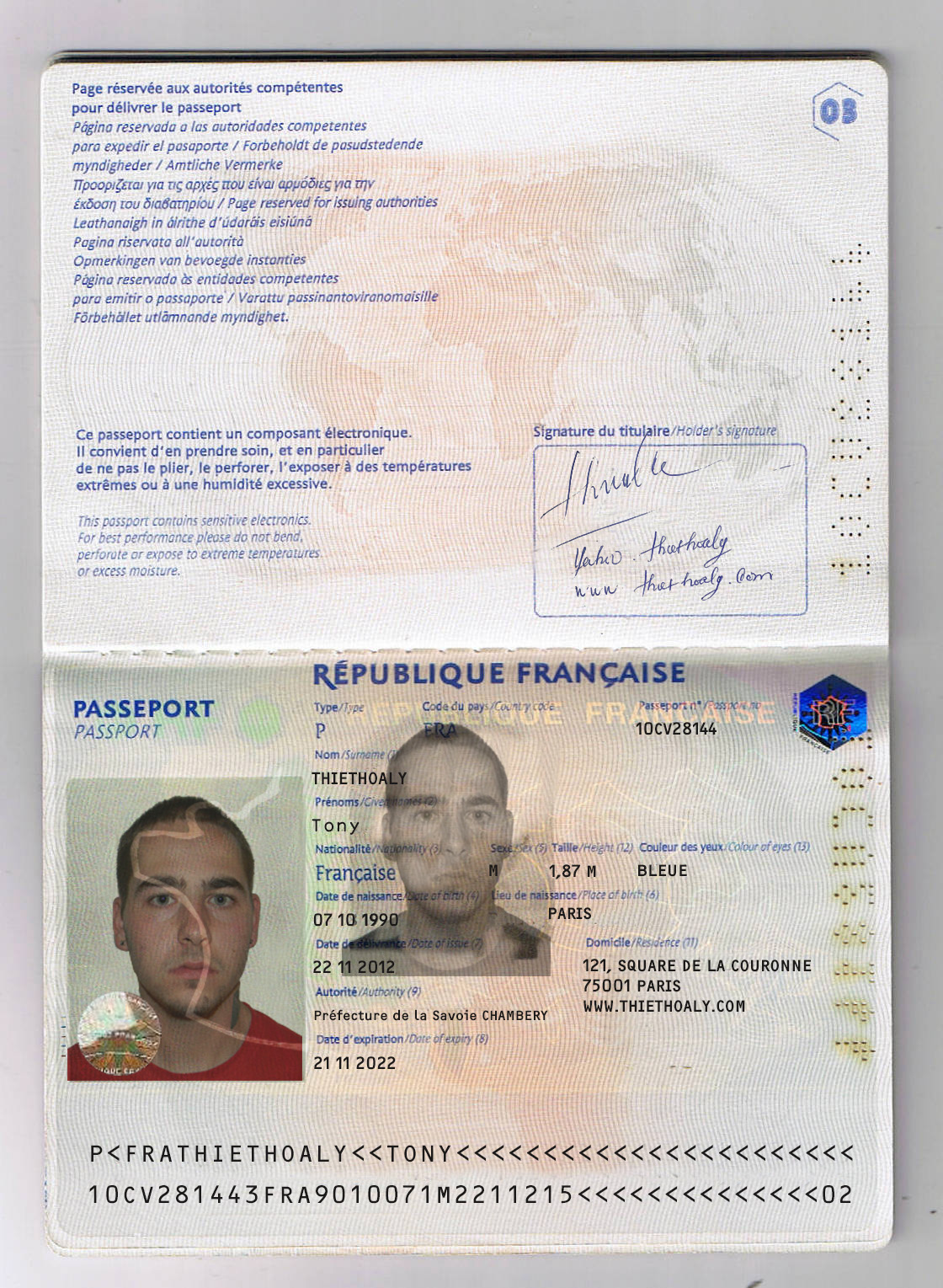 Excellent French Passport Template Pictures Inspiration - Entry ...