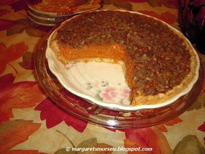 Margaret's Morsels | Pecan Streusel Pumpkin Pie