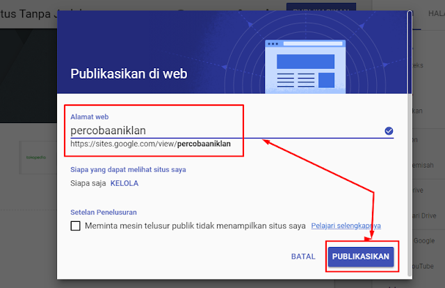 cara embed google adsense di google sites