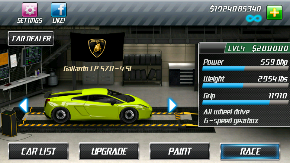 Drag Racing Level  Best Car   Mile