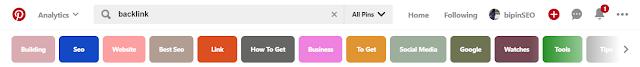 find keyword on pinterest