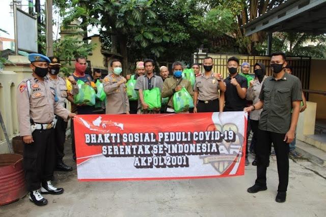 Alumni Akpol Angkatan 2001 Sarja Arya Racana Serentak Gelar Bhakti Sosial di Seluruh Indonesia