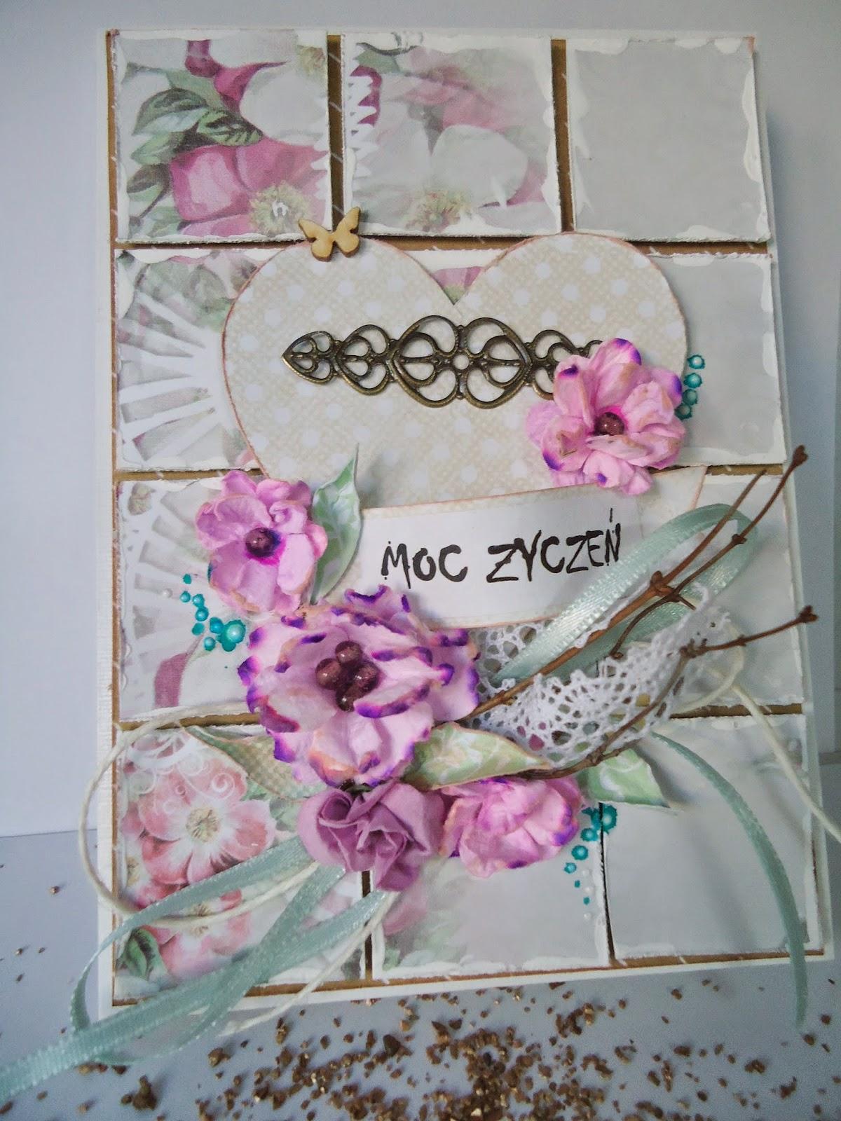 kartaka hand made z metalowym dodatkiem