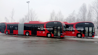 BYD Articulated Buses, Oslo Norway (Credit: cleantechnica.com) Click to Enlarge.