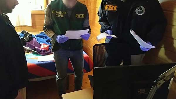fotos actuación de la Guardia Civil en la Operación CRAVEN contra la pedofilia