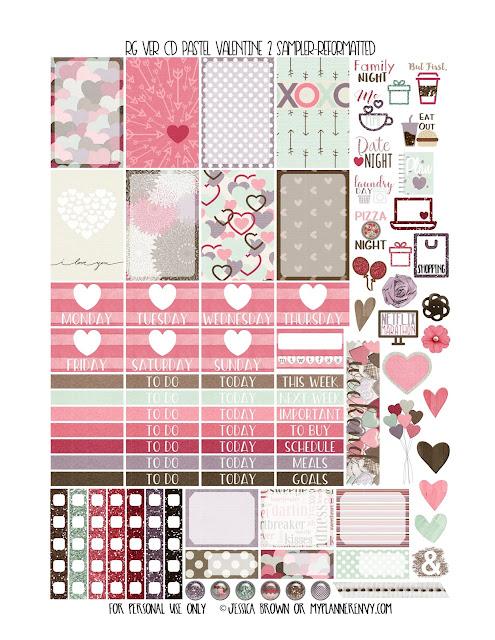 Free Printable Pastel Valentine 2 Sampler for the Reset Girl Vertical Carpe Diem Inserts from myplannerenvy.com