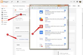 cara membuat navigasi sederhana asli bawaan blog