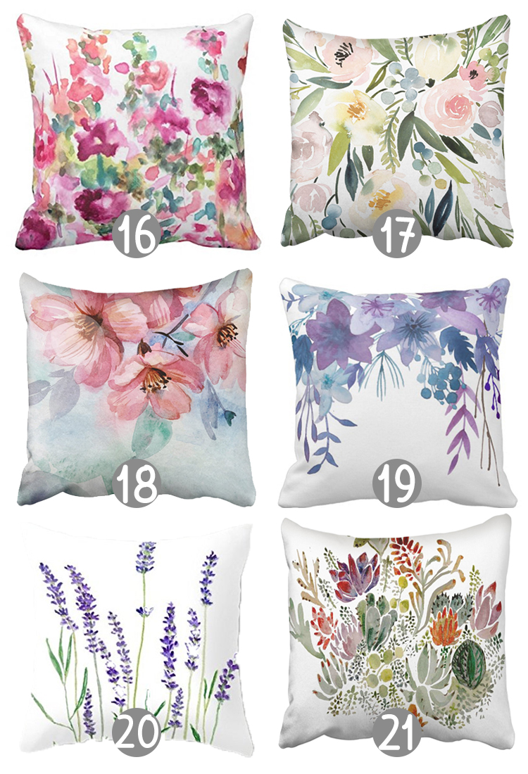The Craft Patch: 27 Gorgeous Floral Throw Pillow Covers under $10