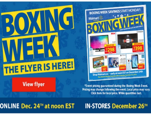Walmart Boxing Week Sneak Peek Flyer