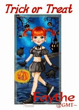 trick or treat girl image tag