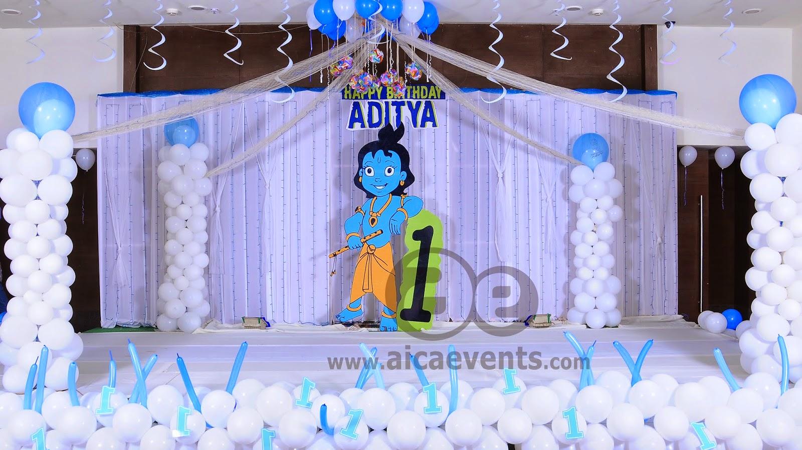 Aicaevents Krishna Theme Birthday Party Decorations