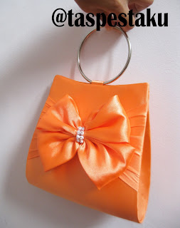 Tas Pesta Orange Oren Clutch Bag Cantik Buat Hantaran Seserahan
