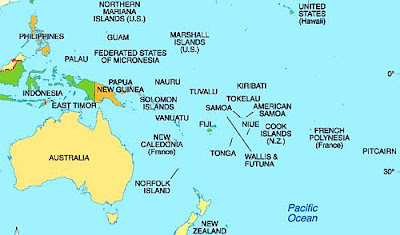 Daftar Nama Negara di Benua Oceania/Australia