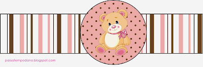 Girl Teddy Bear Free Party Printables.