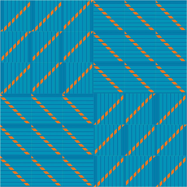 Split Mountain quilt block from Quiltmaker's 100 Blocks Volume 15