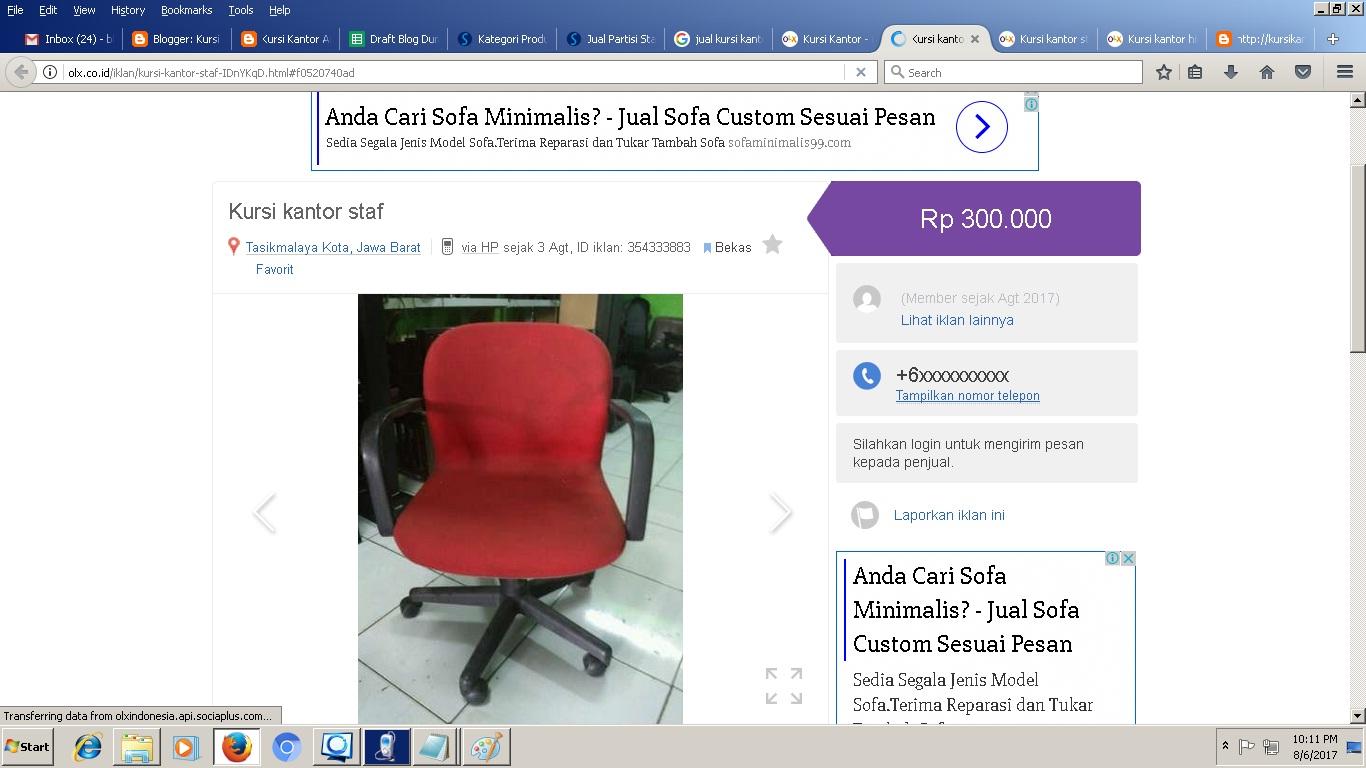 94 Kursi Kantor Bekas Cirebon Gratis