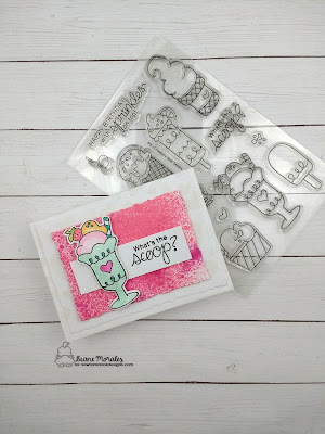 What's the Scoop! a card by Diane Morales| Summer Scoops Stamp Set by Newton Nook Designs