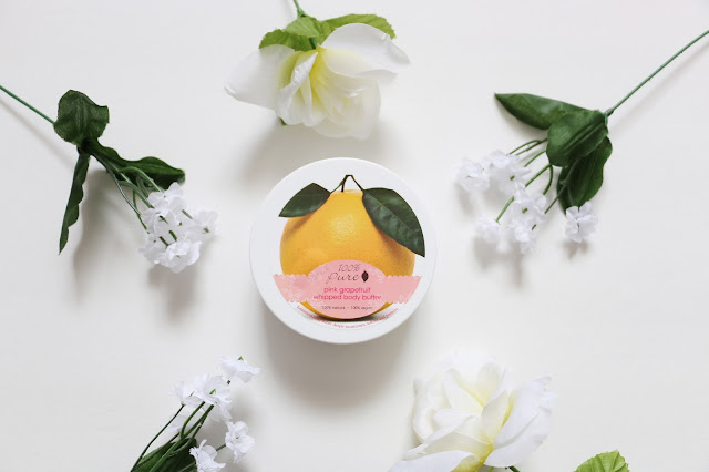 100 percent pure, pink grapefruit, body butter, review