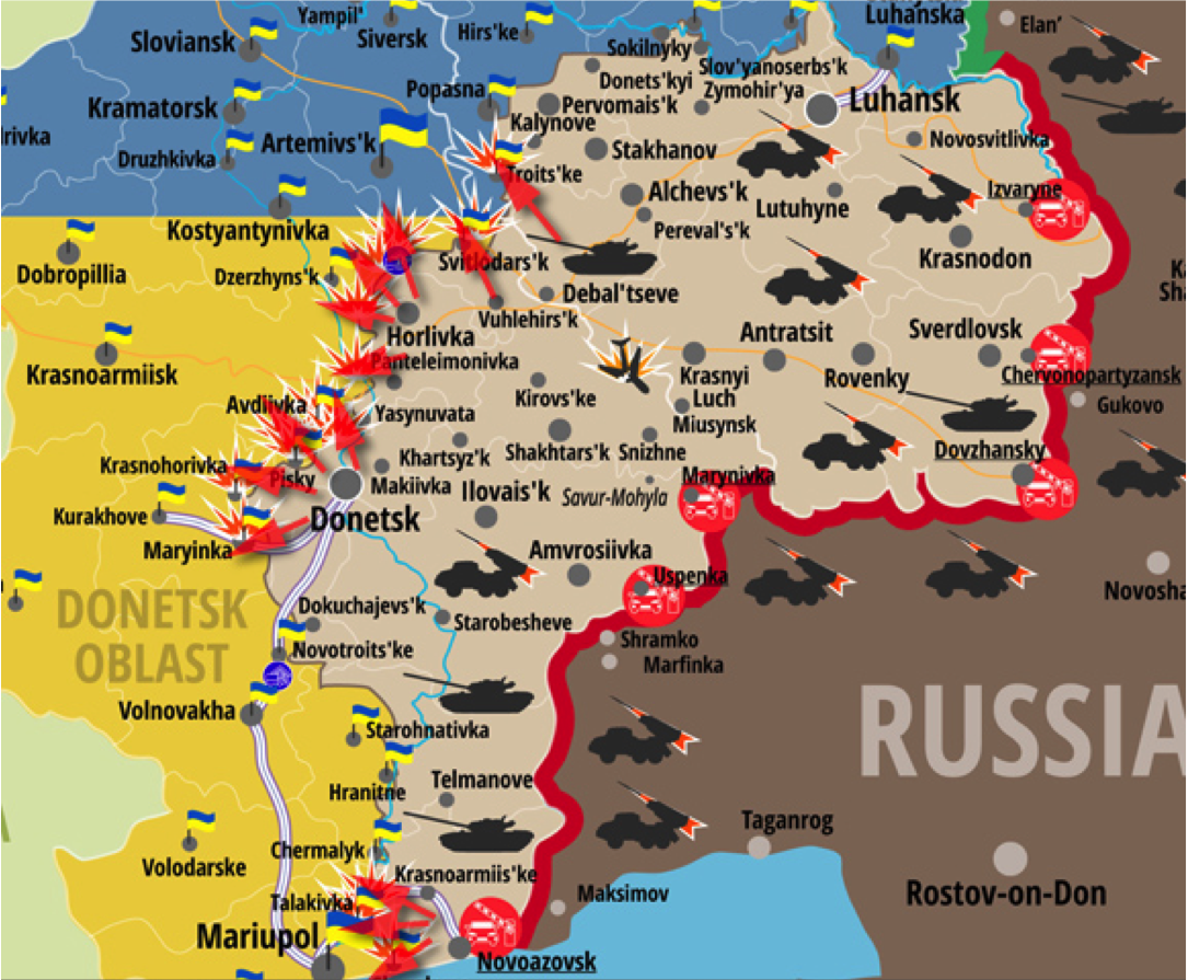 map of ukrainian ato
