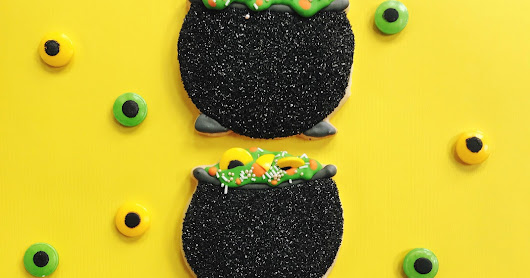 Halloween Cookies - Witch Cauldrons