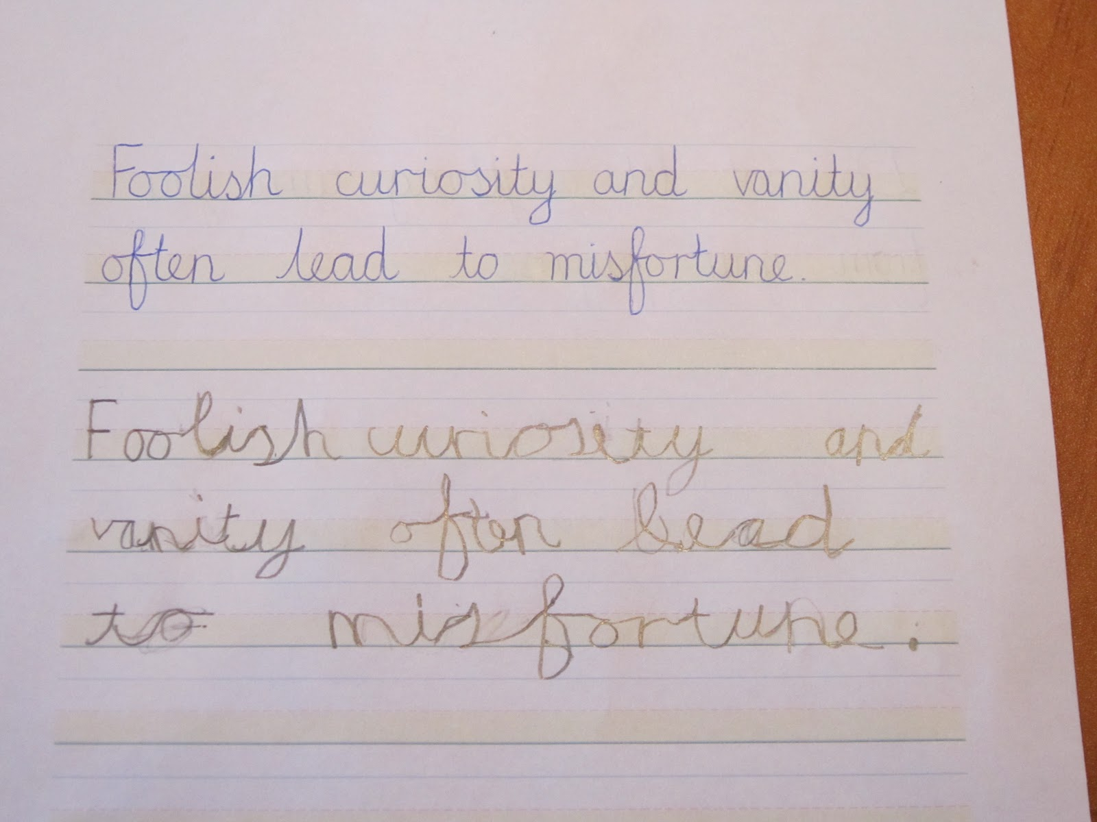 The Tiger Chronicle Cursive Handwriting