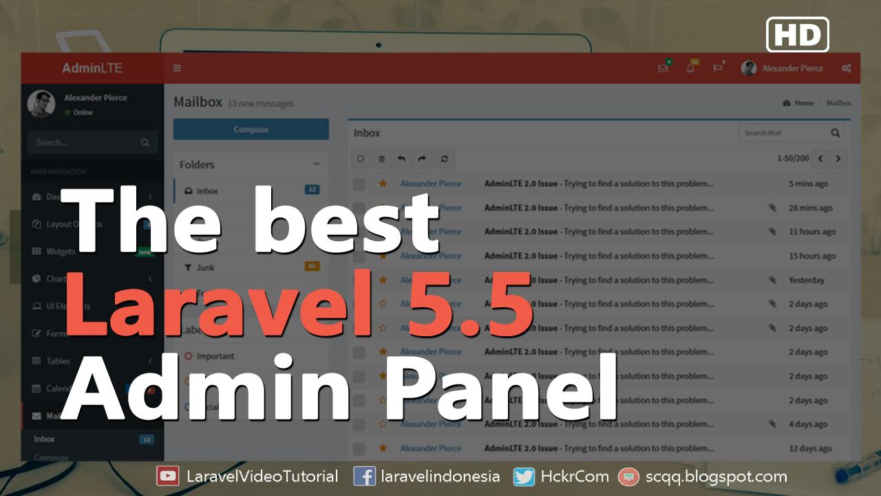 Laravel 5.5 Tutorial : Create Admin Panel using AdminLTE Bootstrap ...