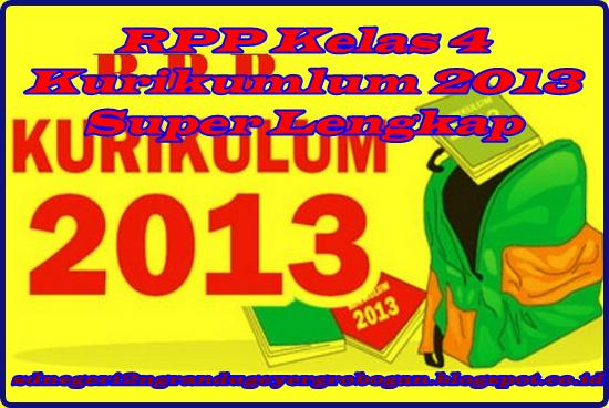 RPP Kelas 4 Kurikumlum 2013 Terbaru