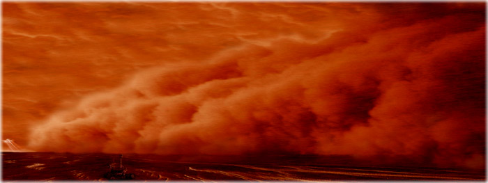 atualização sobre a tempestade de areia global de Marte