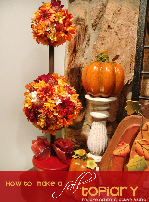 fall topiary craft, pumpkins, mantel decorating, fall home decor, fall