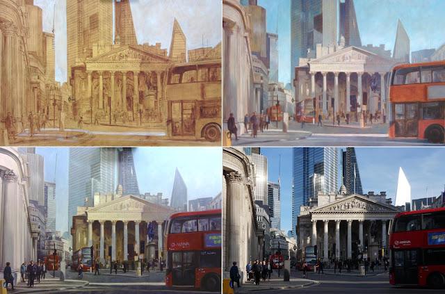 london artwork royal exchange painting autumn martin davey