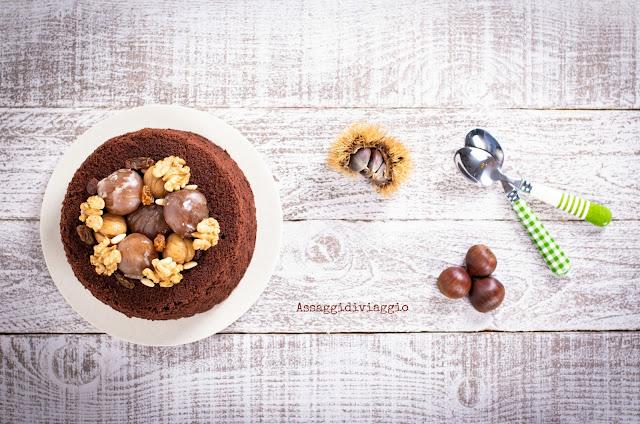 Chiffon cake alle castagne - Chestnuts chiffon cake