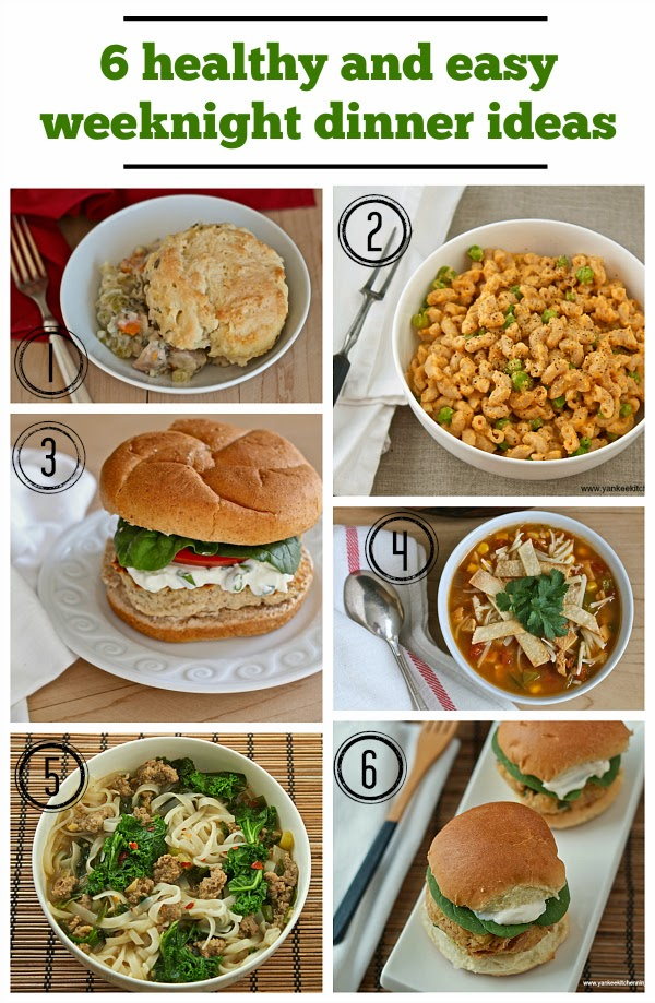 Healthy And Easy Weeknight Dinner Ideas