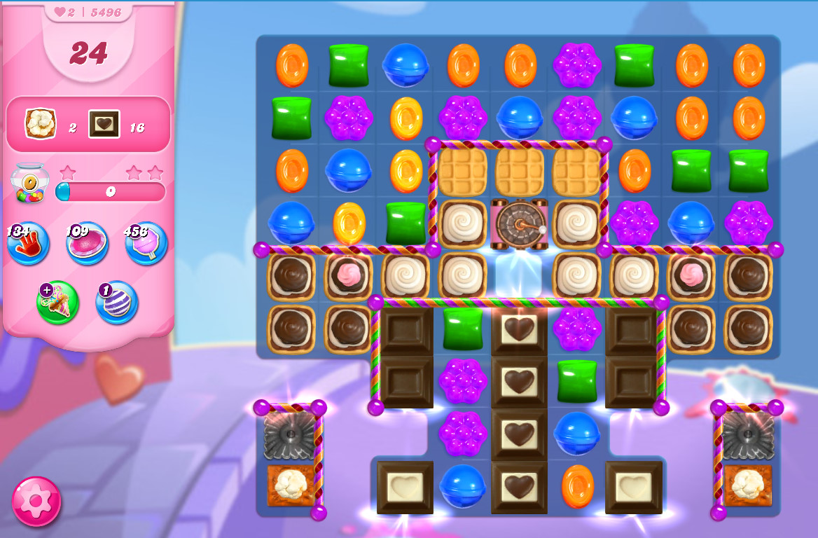 Candy Crush Saga level 5496