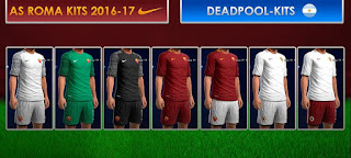 Kits AS Roma GDB 2016-2017 Pes 2013 by Dead