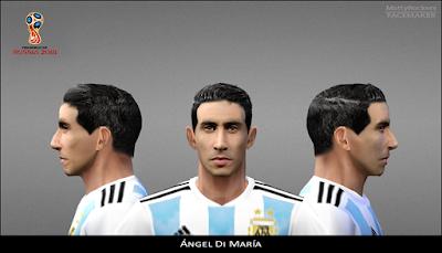 PES 6 Faces Ángel Di María by MattyRockers