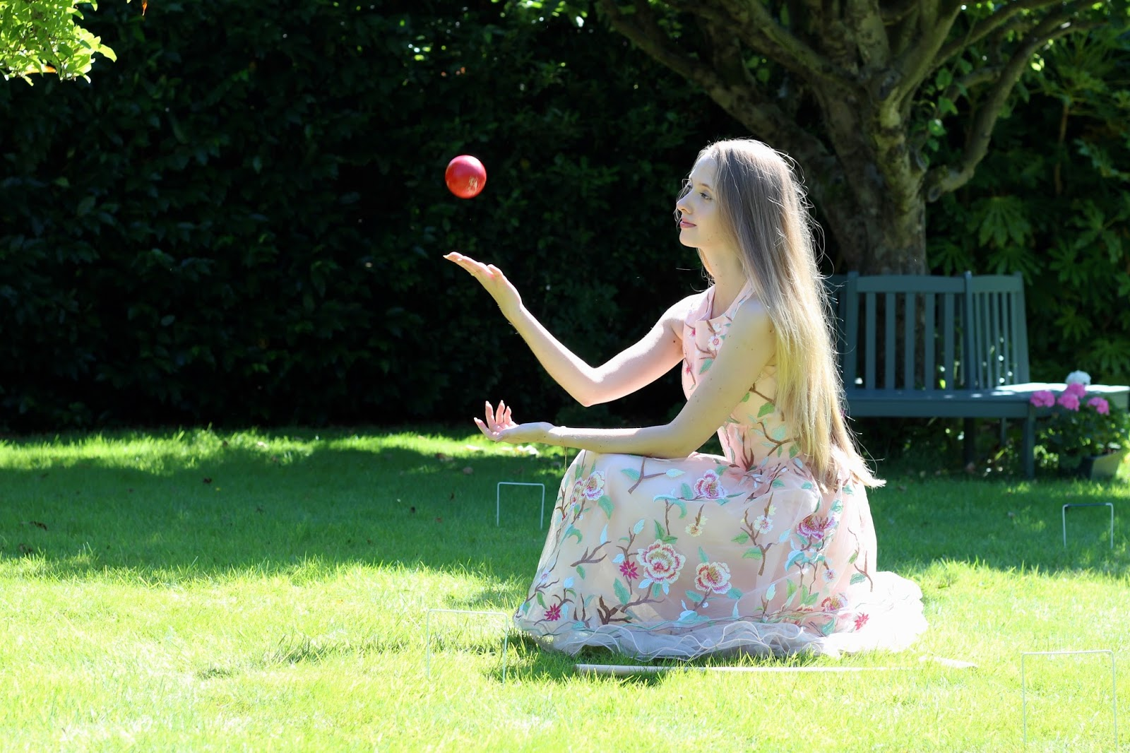 Fashion and lifestyle blogger game of croquet