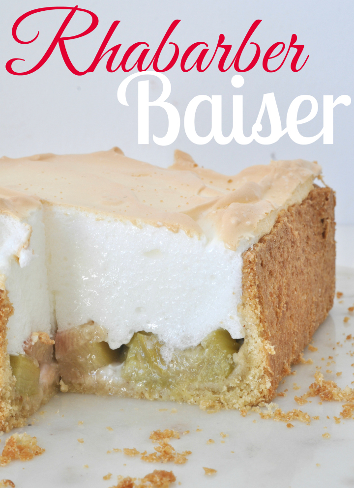 glutenfree Rhubarb-Baiser-Cake, the taste of summer
