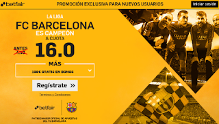 betfair supercuota 16 Barcelona campeon Liga 17 mayo