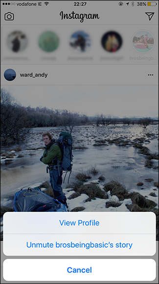 Cara mute atau mematikan instagram stories seseorang