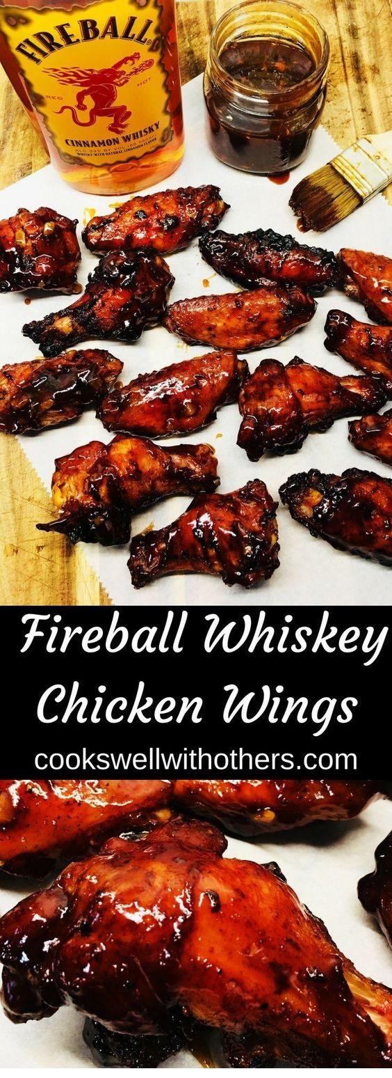 Fireball Whiskey Chicken Wings