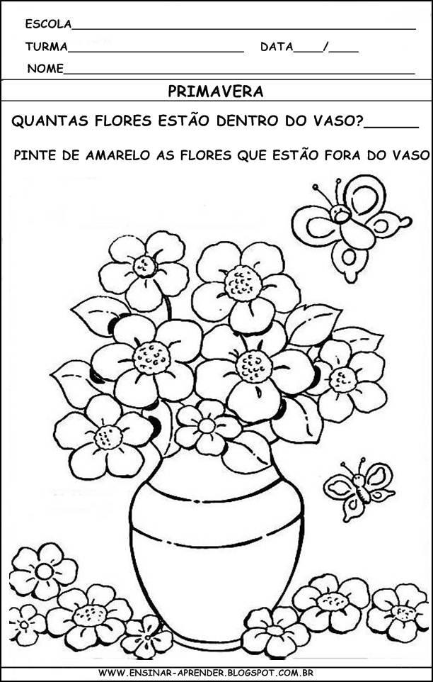 Fabuloso PEDAGOGIA ONLINE EAD: Primavera - Educação Infantil CU46