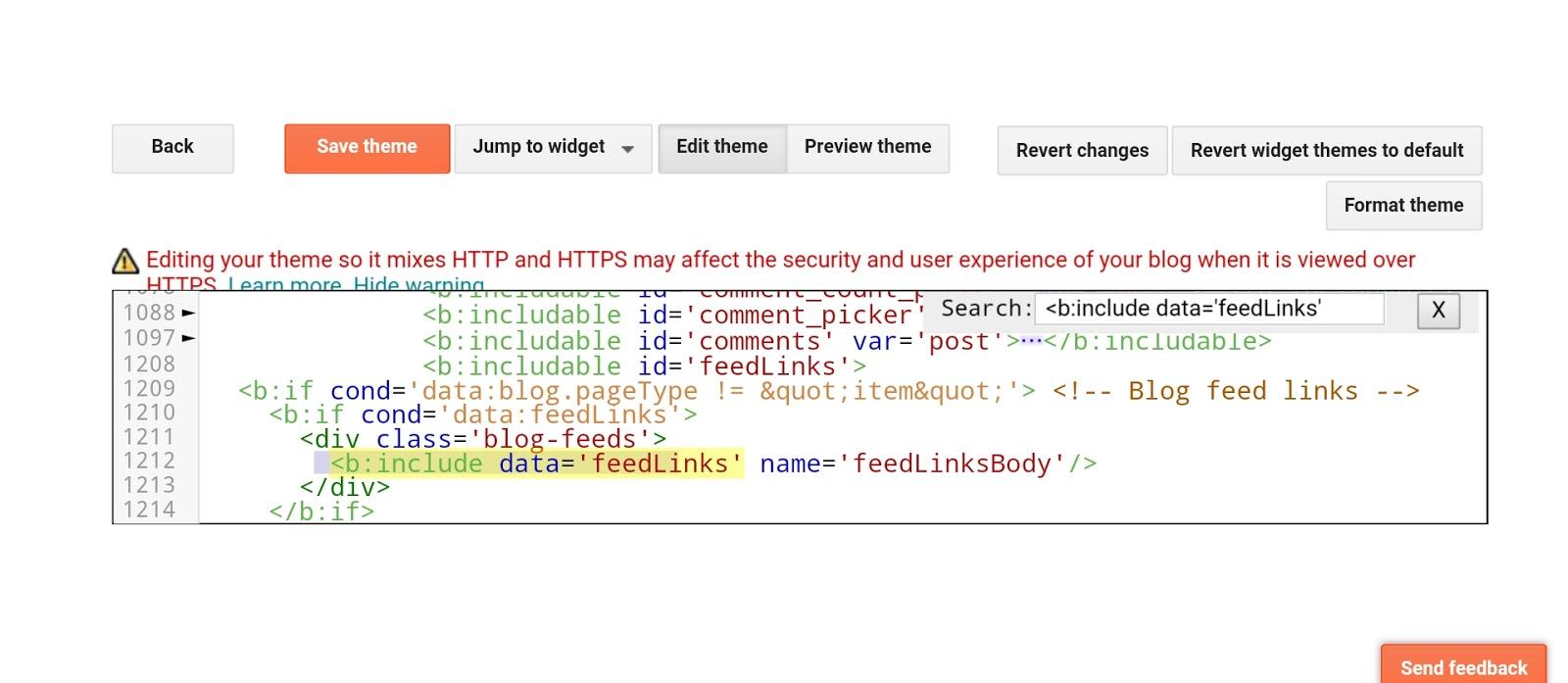 Delete that code