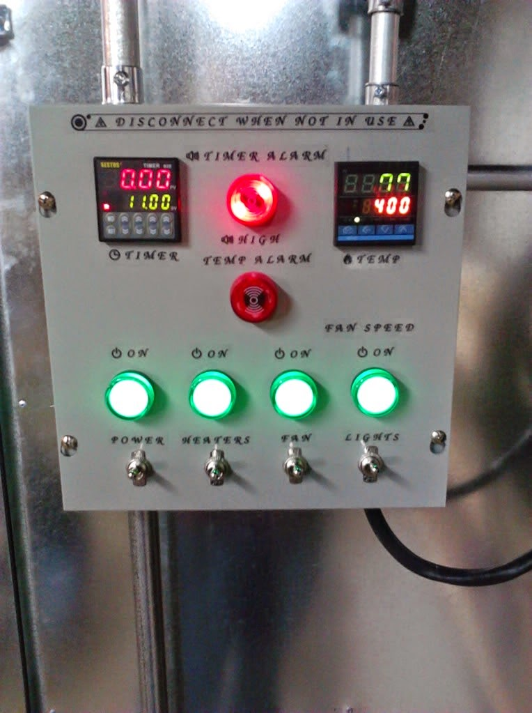 How to build a powder coating oven part ii powder coating the powder coating oven control panel swarovskicordoba Gallery