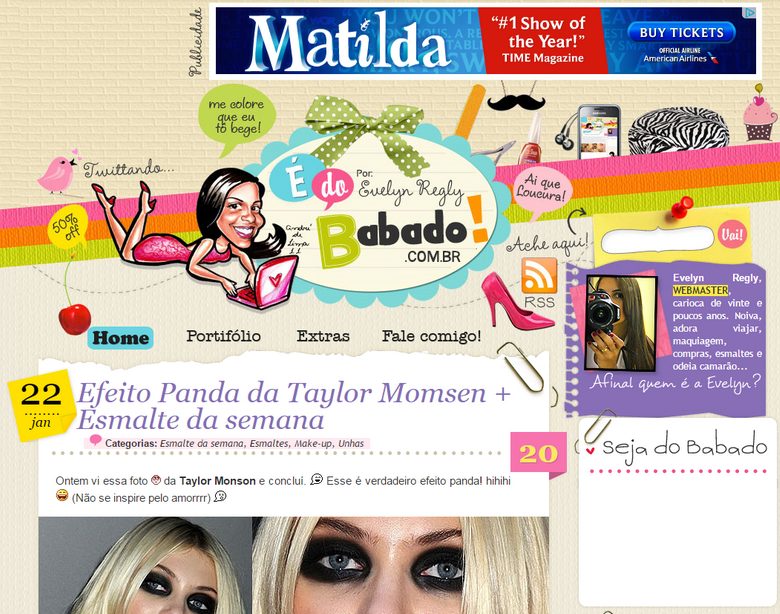 Layout antigo blog É do babado