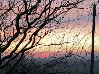 krajobraz, widok, zachody słońca, radość