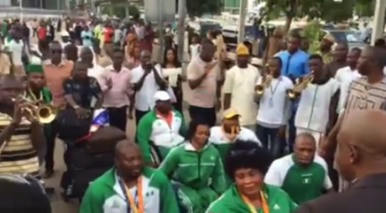 Photos: Nigeria's Rio 2016 paralympics team receives rousing welcome